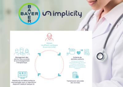 E. santé : Bayer et Implicity signent un partenariat pour le déploiement de la télésurveillance pour les patients insuffisants cardiaques